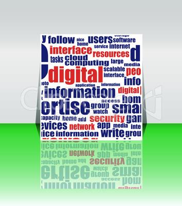 Word Cloud Social Network / Internet / Community / Vector