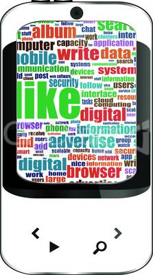 smart phone isolated on white background - like social themу