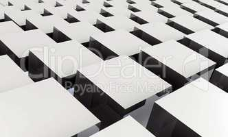 3D Struktur - Graue Quader 3