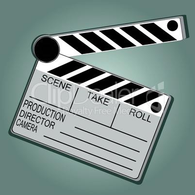 Movie Clapper Board on grunge vector background