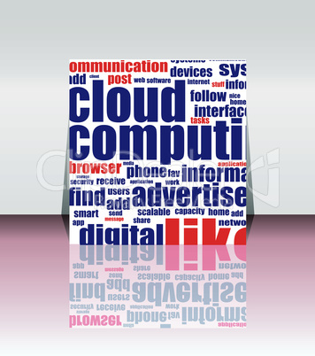 Cloud computing concept design, flyer or cover