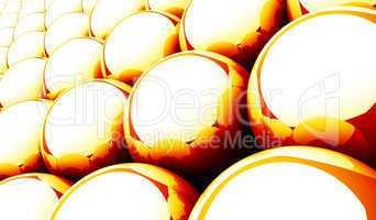 Kugel Matrix Hintergrund - Orange Rot Weiß 08