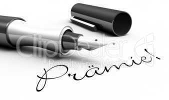 Prämie - Stift Konzept