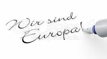 Stift Konzept - Wir sind Europa!