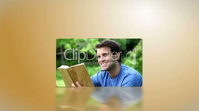 Menschen beim Lesen