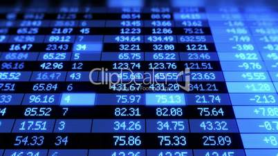 Stock Market board moving. Looped animation.