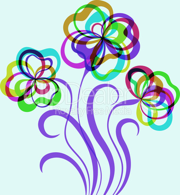Decorative EPS10 background with abstract flowers