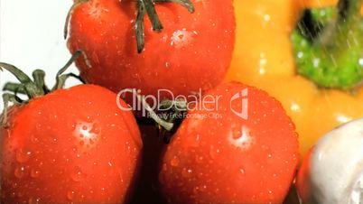 Gemüse im Regen