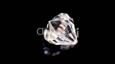 Diamond in super slow motion spinning