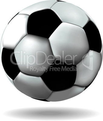 Leather soccer ball icon.