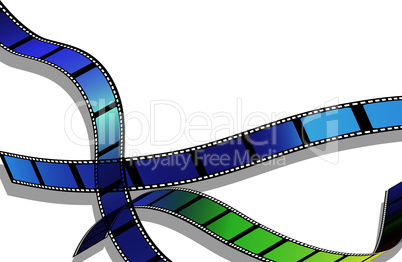 Film for photo or video record strip frame.