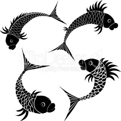 Fish sketch design icon.