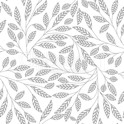 Leaf floral abstract seamless vector background