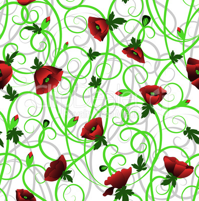 Poppy seamless background.