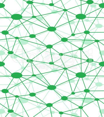 Neuron net, vector icon web.