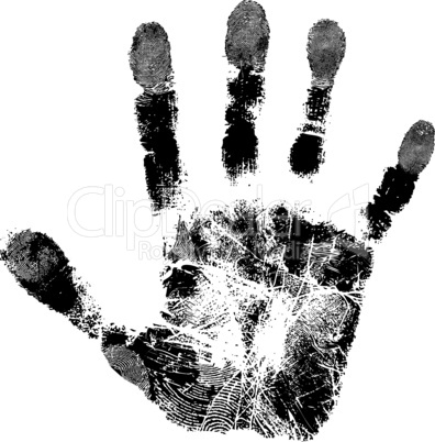 Print of hand of child