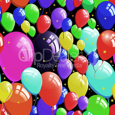 Balloon background, birthday seamless
