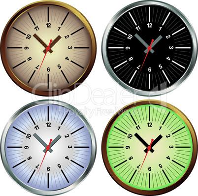 Set of metal clock.