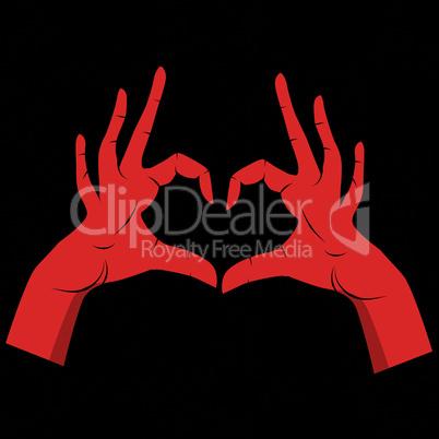 People hand like heart shape