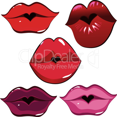 Woman sexy lip kiss, heart.
