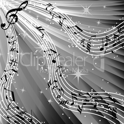 Music sound wave vector background.