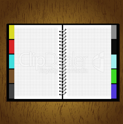 Web site business design notebook template,eps