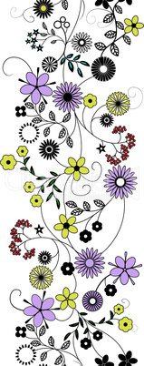 Flower abstract seamless vector background.