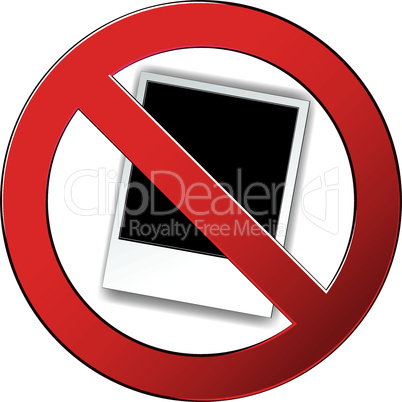 Sign forbidden photo circle.