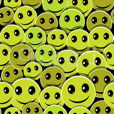 Smile face icon seamless pattern background.