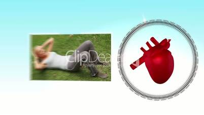 Videos of sportswoman next to a heart