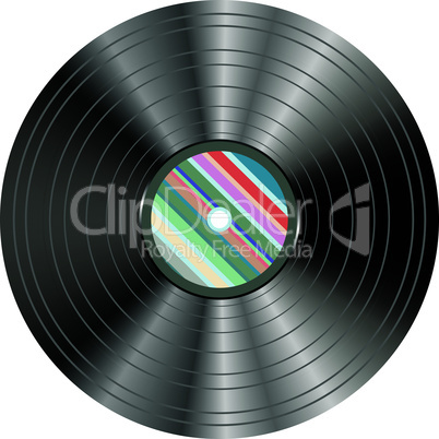 vinyl audio record isolated on white background