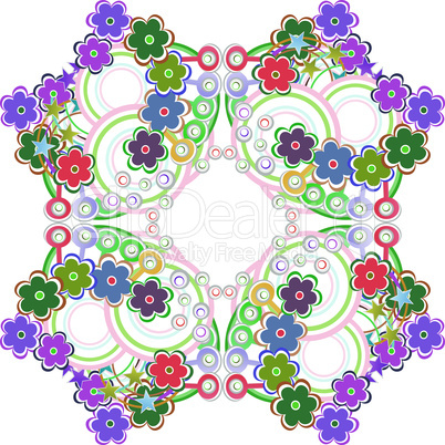 Colorful flowers - seamless decorative vector pattern