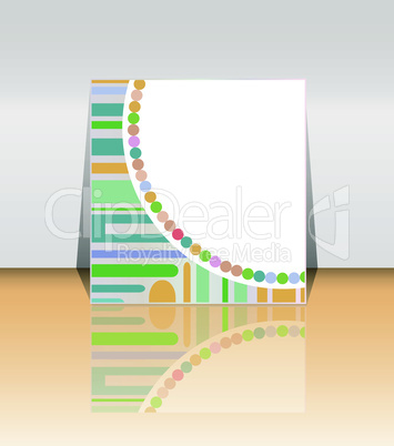 Presentation of flyer design content background. vector illustration