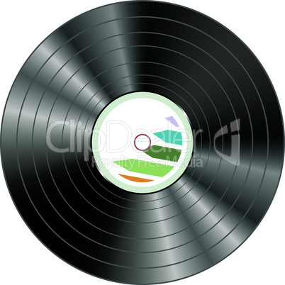 vector vinyl record isolated on white background