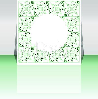 design for business flyer vector - green vintage decoration
