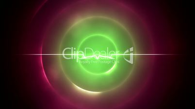 Green and magenta circles with a line in the middle