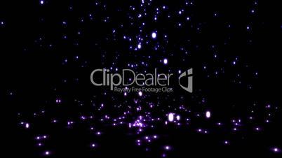 Falling purple sparkles
