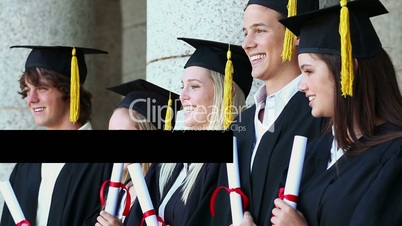 Young graduate people