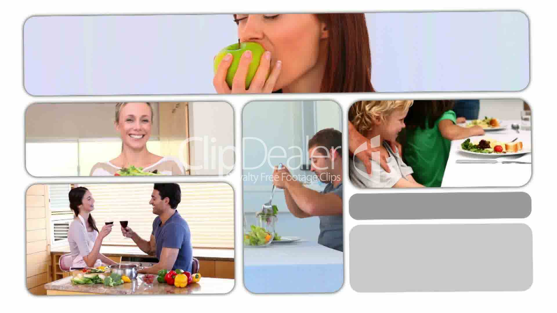 People Eating Healthy Food Royalty Free Video And Stock