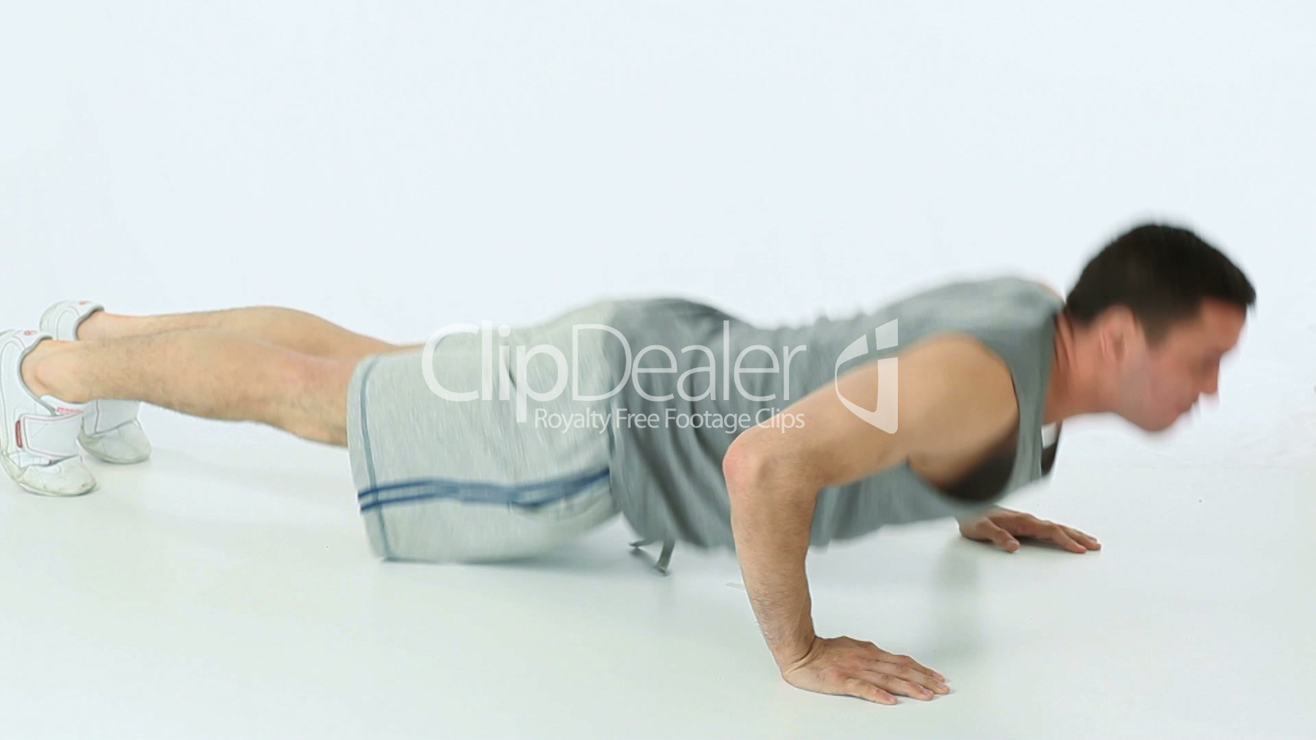 Man doing push ups and clapping: Royalty-free video and ...