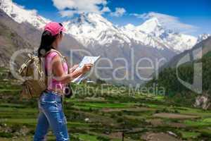 Woman traveler