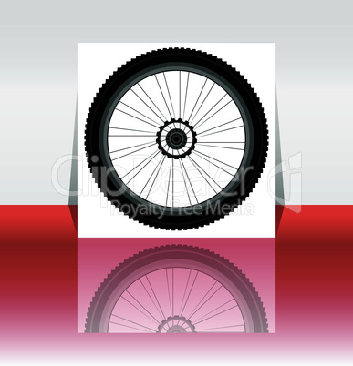 Bike wheel flyer or cover - vector illustration