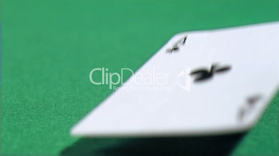 Ace card in super slow motion dropping