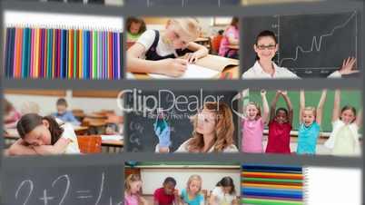 Pupils enjoying their school life