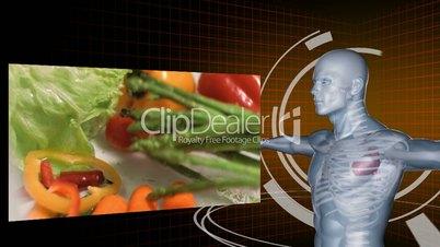 Slow motion of vegetables videos