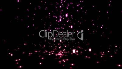 Falling pink sparkles