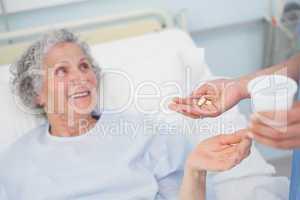 Patient receiving drugs