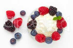 Dessert of berries