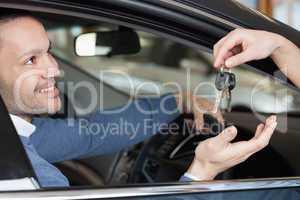 Man receiving keys