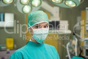 Surgeon standing